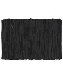 Dækkeservietter i sort læder