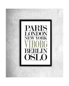 Viborg Plakat i ramme