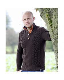Uldsweater, Brun, Uld,...