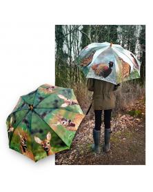 Paraply m. fasaner - Ø120 cm